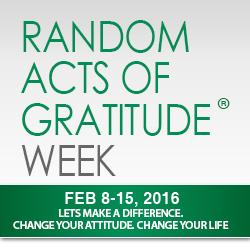 National Gratitude Week Feb 8-15, 2016