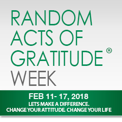 National Gratitude Week Feb 11-18, 2018
